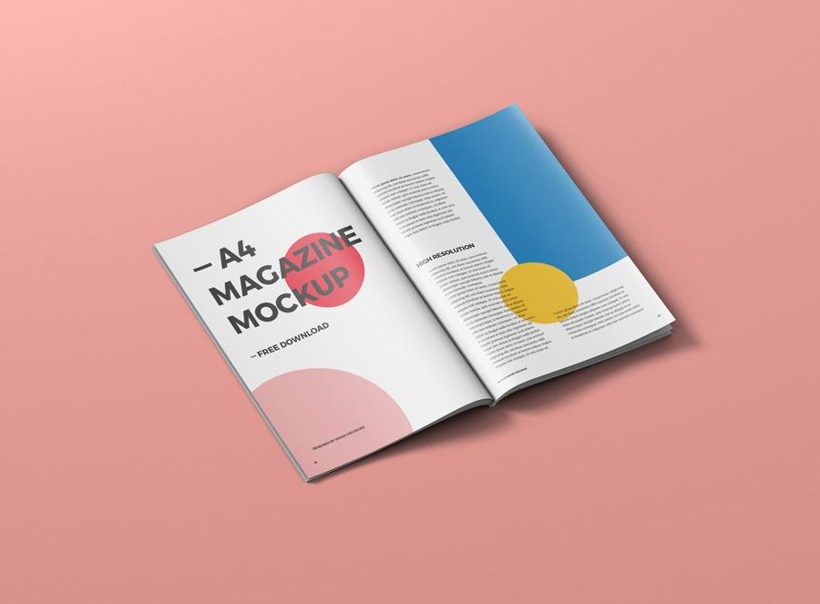 free paper a4 magazine mockup mockuptree