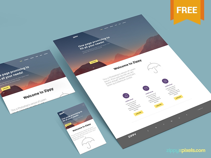 free perspective mockup for websites apps zippypixels on dribbble