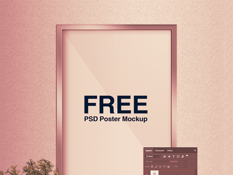 free poster mockup free psd template psd repo