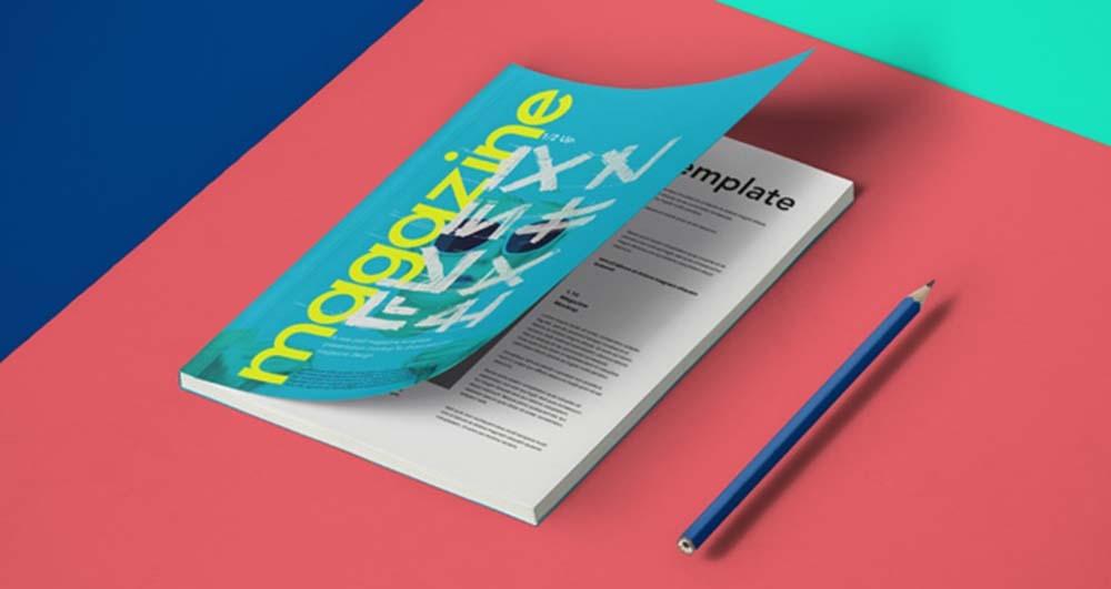 free realistic a5 magazine mockup free mockups