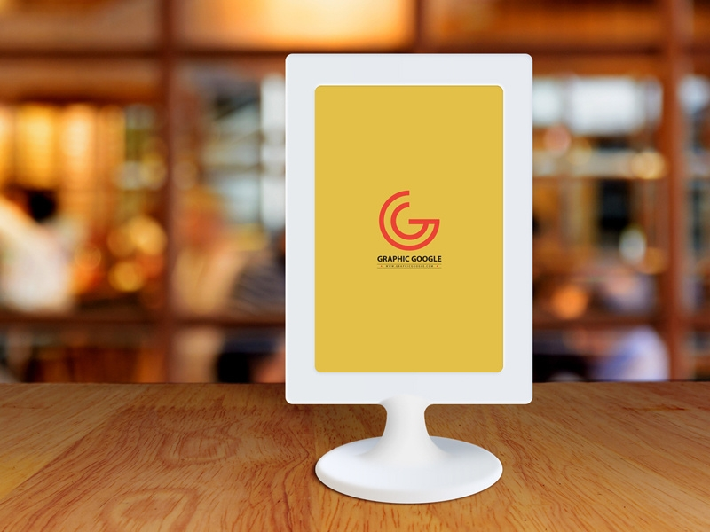 free restaurant menu frame on table mockup graphic google on dribbble