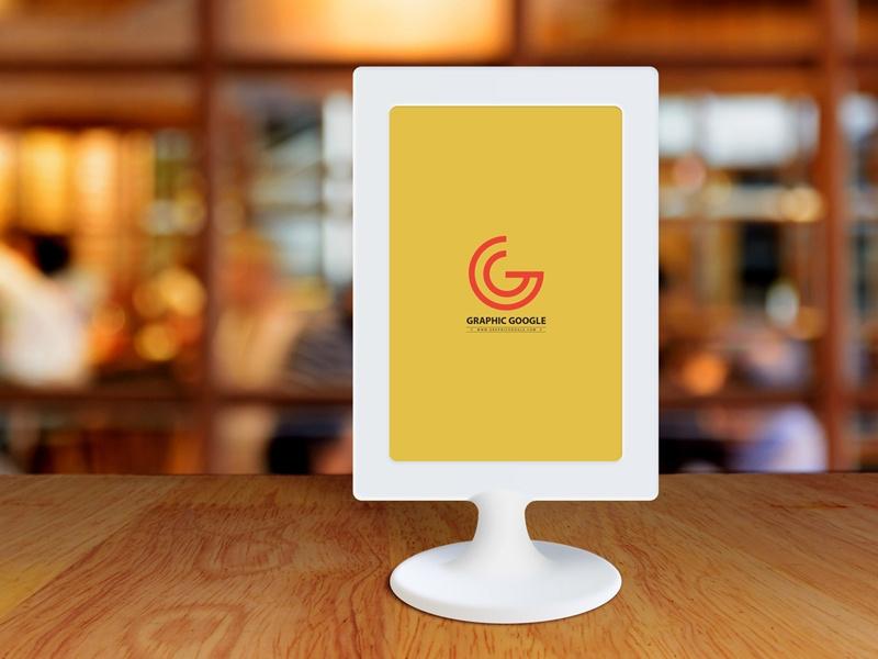 free restaurant menu frame on table mockup graphic google on dribbble