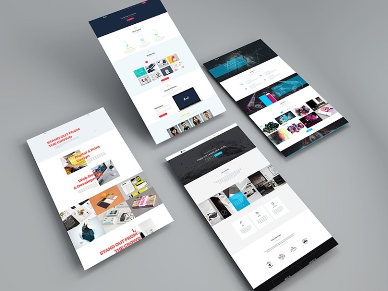 free screens website mockup psd template mockup planet