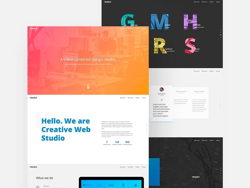 free website landing page mockup in psd designhooks