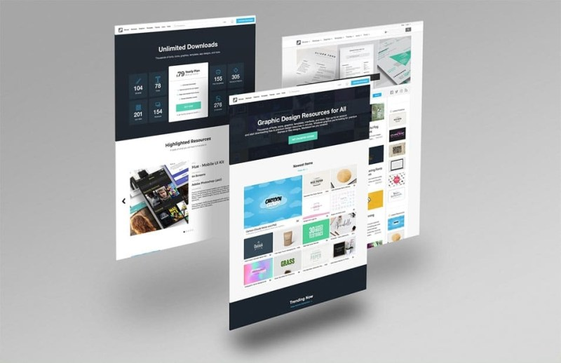 free website mockup pack css author