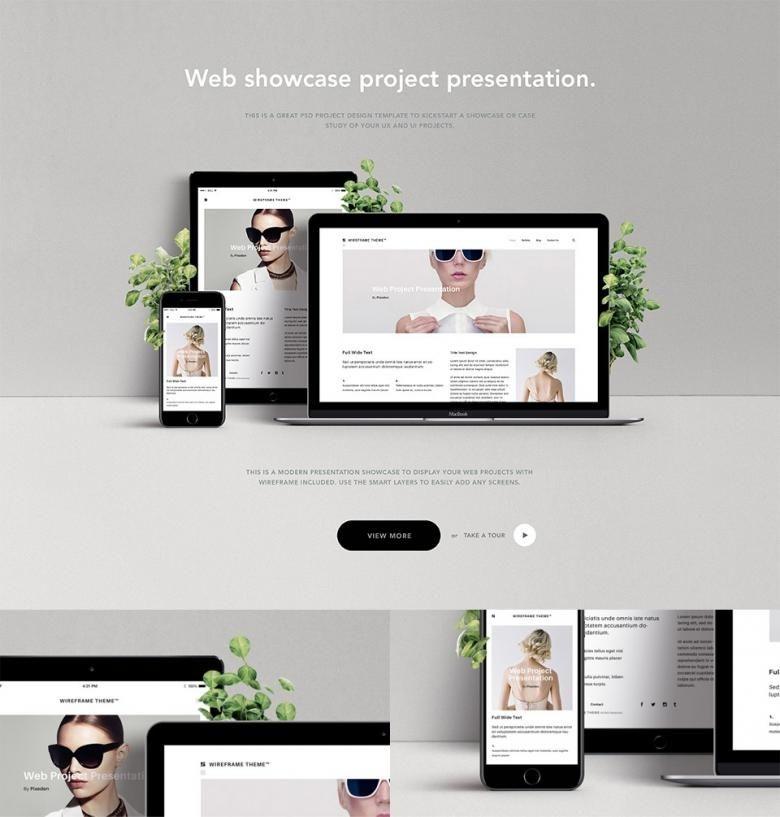 free website showcase psd mockup free design mockups psd