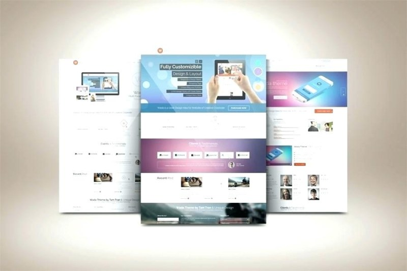 free website template web design tam a mockup psd