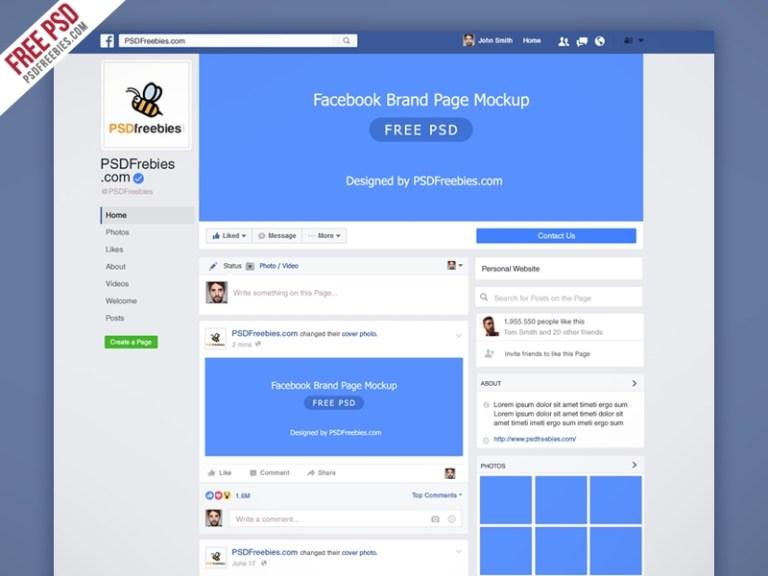 freebie facebook new brand page 2016 mockup psd psd freebies on