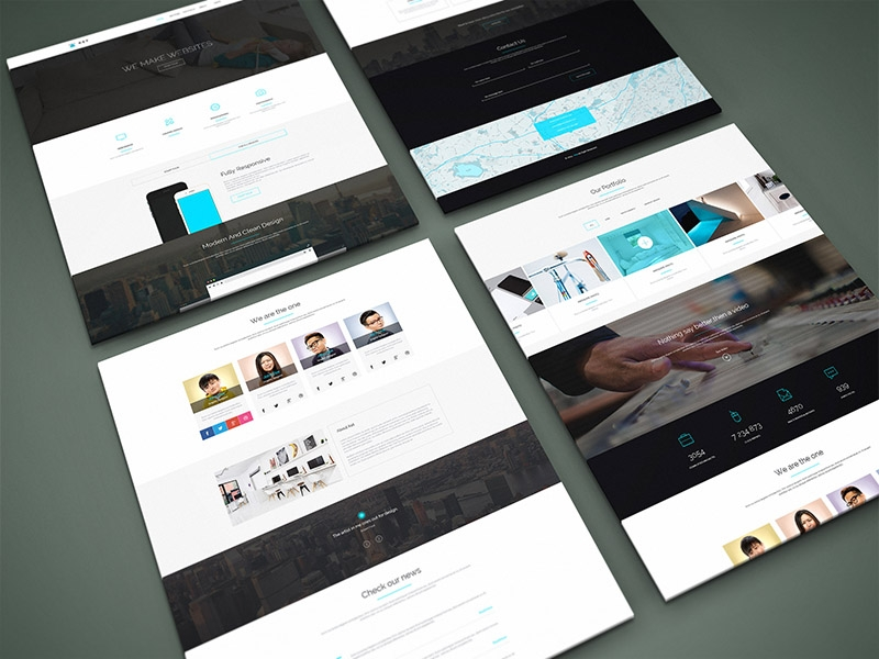 freebie perspective website psd mock up graphberry on dribbble