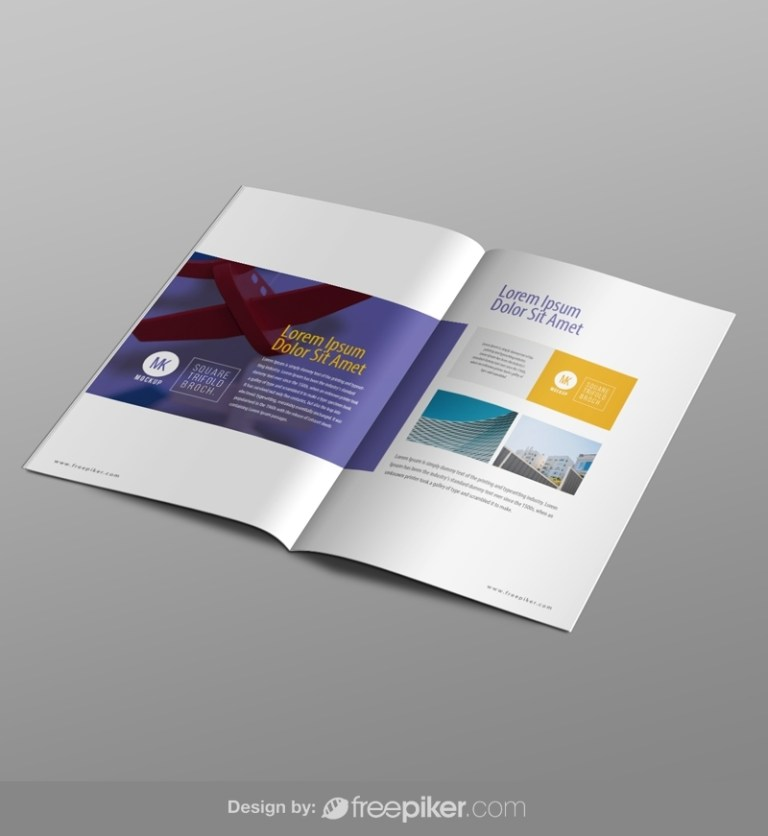 freepiker brochure booklet mockup