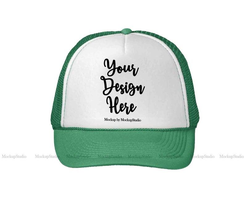 green hat mockup st patricks cap mock up trucker hat mockup unisex teen baseball cap display blank snapback hat on white background