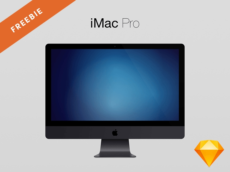 imac pro mockup for sketch freebie download sketch resource