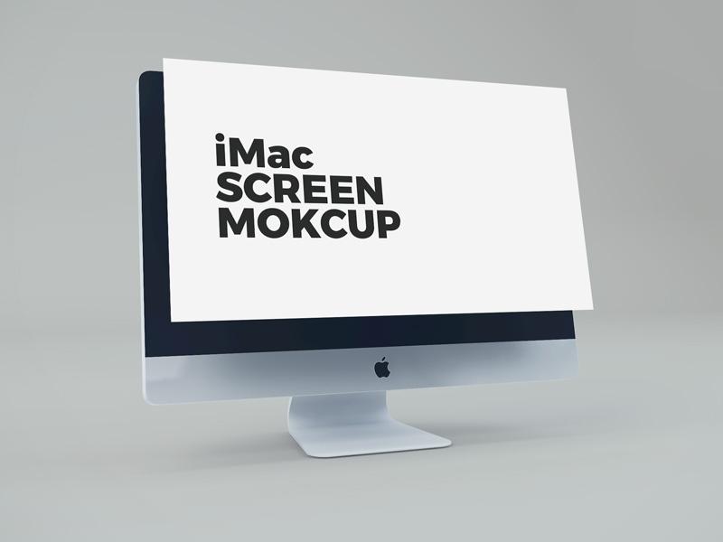imac screen psd mockup mockupsq