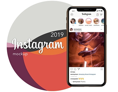 instagram mockup template psd and sketch free download on behance