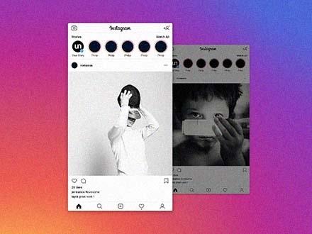 instagram post mockup 2019 psd