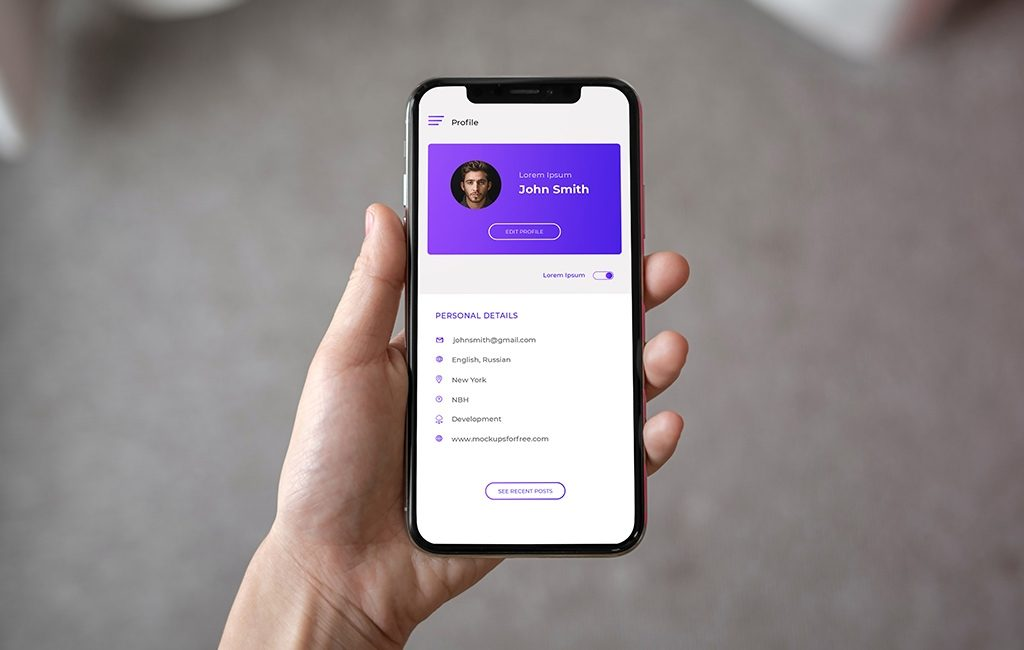 iphone x in hand mockup mockups for free