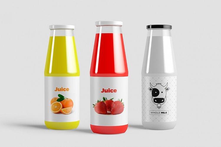 juice bottle mock up