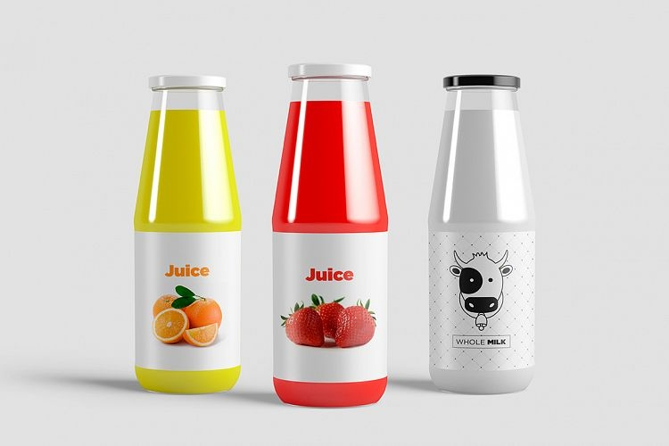 juice bottle mock up