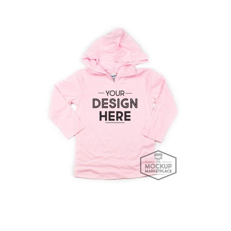 kavio ba pink long sleeve pullover hoodie mockup hooded pullover flat lay kavio flat lay hoodie flat lay pink hoodie mockup