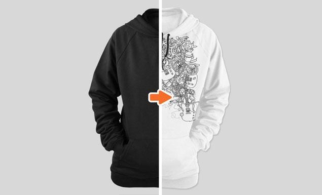 ladies ghosted hoodie mockup templates pack