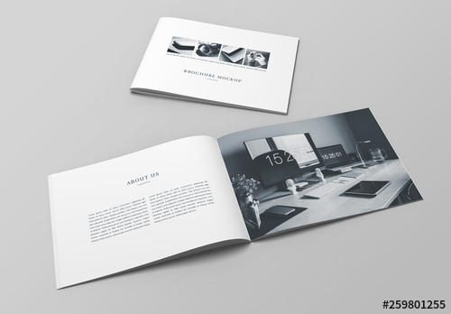 landscape booklet mockup buy this stock template and explore