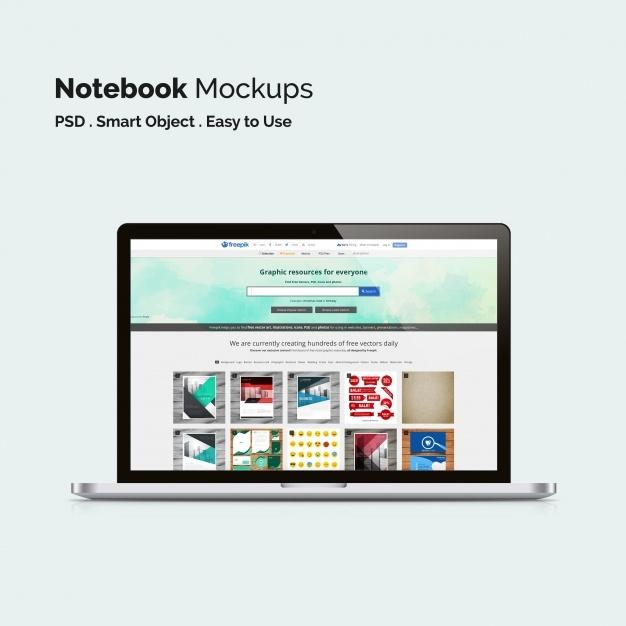 laptop mock up psd file free download