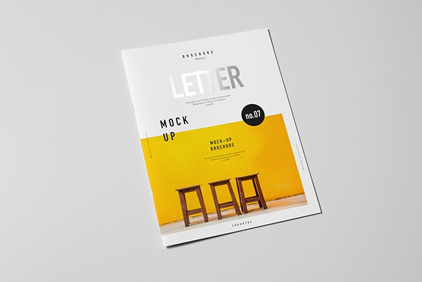 letter brochure catalog booklet mock up on behance
