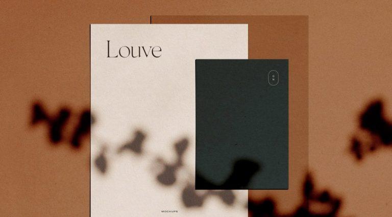 louve stationery mockup kit scene creator