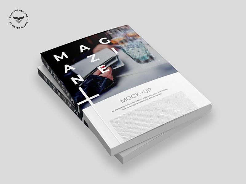 magazine mockup victorthemes on dribbble