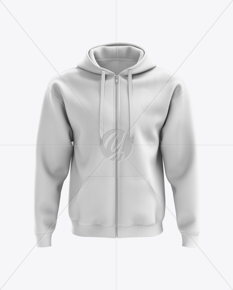 mens full zip hoodie mockup front view in apparel mockups on