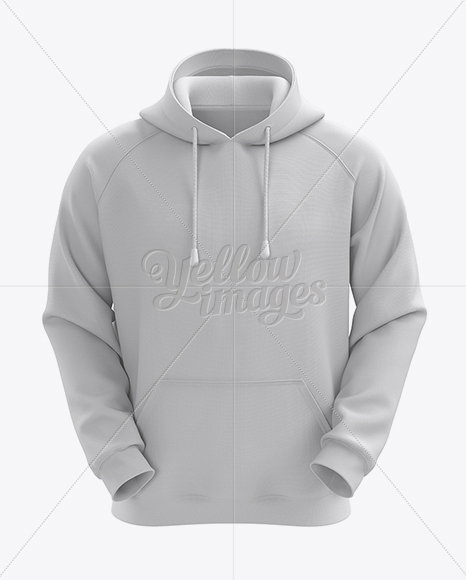 mens hoodie front view hq mockup in apparel mockups on yellow