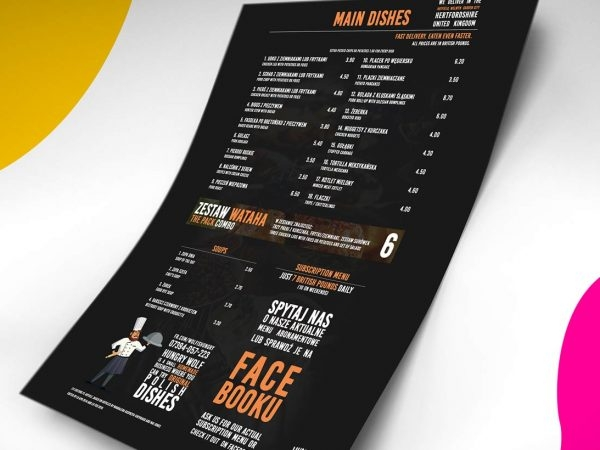 menu card mockup daily mockup