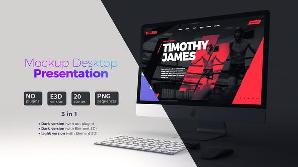 mockup desktop website presentation baburka video videohive