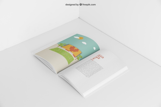 open booklet mockup psd file free download