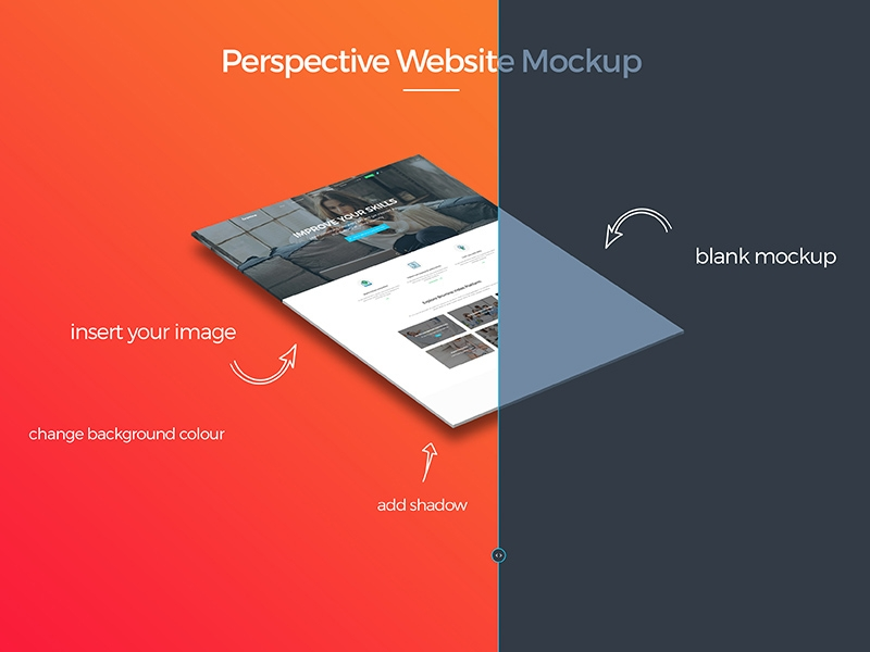 perspective website mockup free psd template psd repo