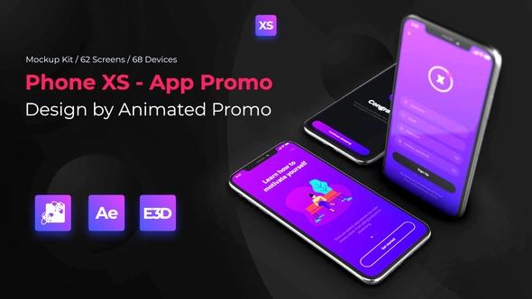 phone xs mockup full kit animatedpromo videohive