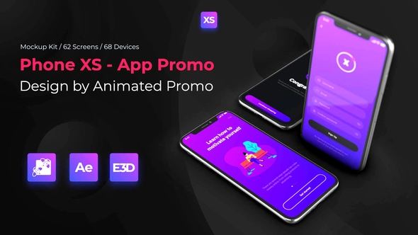phone xs mockup full kit animatedpromo videohive