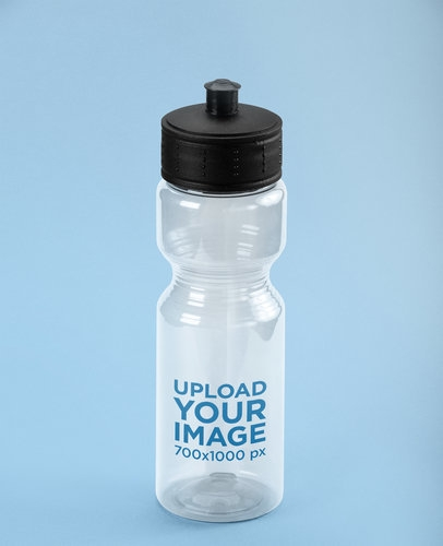 placeit translucent sports bottle mockup