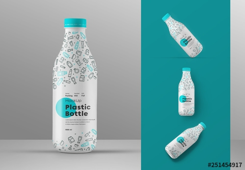 plastic bottle mockup set buy this stock template and explore
