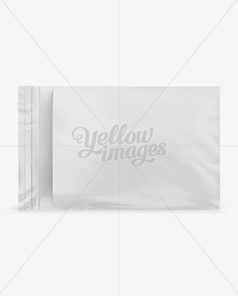 plastic mailing envelope mockup front back views in stationery