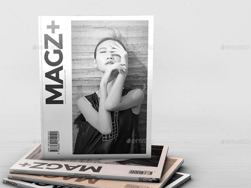 realistic magazine mockups wutip graphicriver