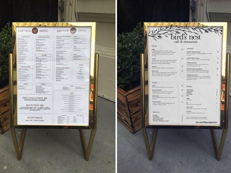 realistic standing menu mockup free psd template psd repo