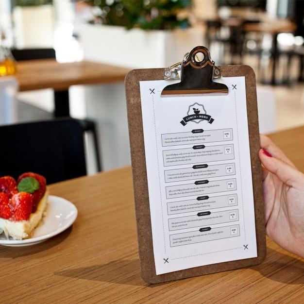 restaurant menu mock up design psd file free download