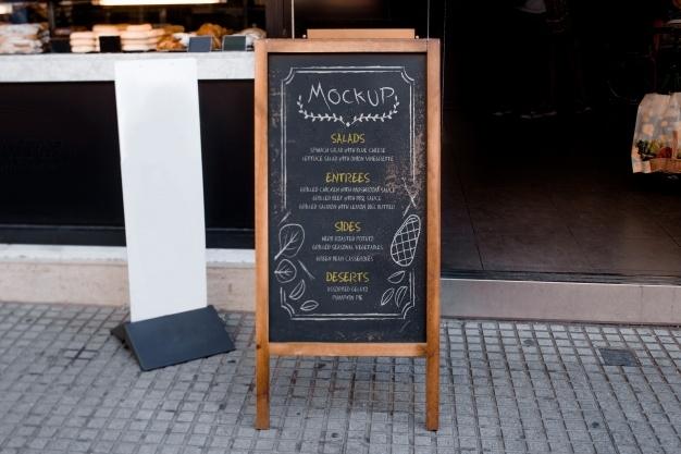 restaurant menu mockup psd file free download