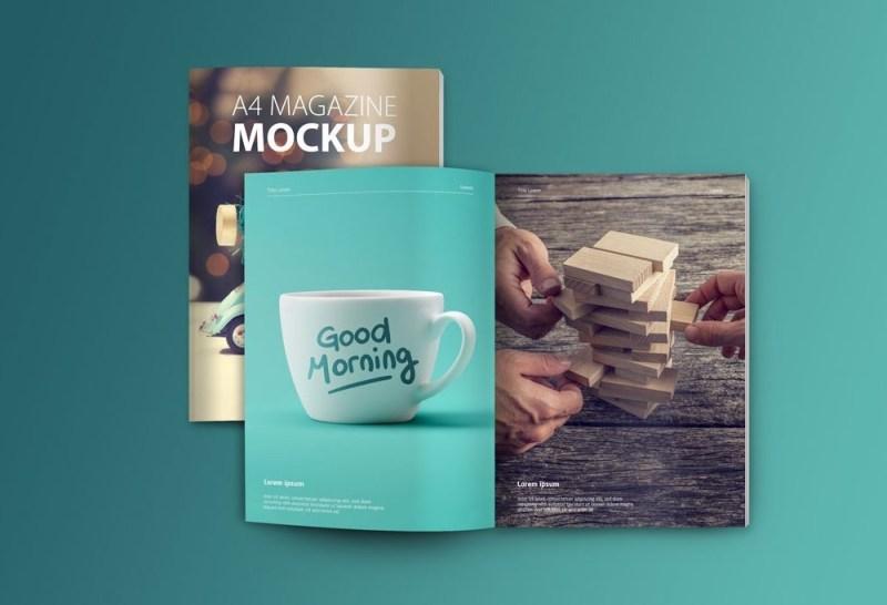 set of magazine mockups mockupbuzz