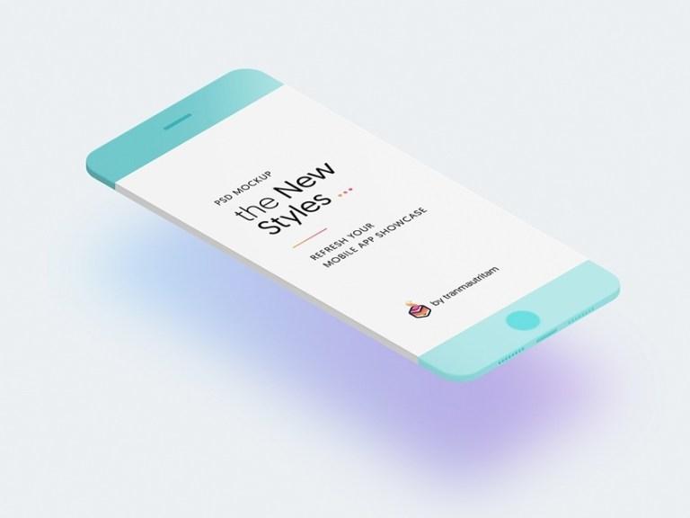 set of minimalistic phone mockups fluxes freebies