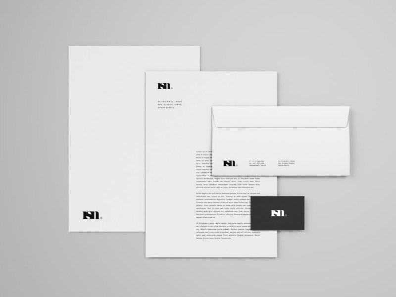 simple stationery mockup free mockup