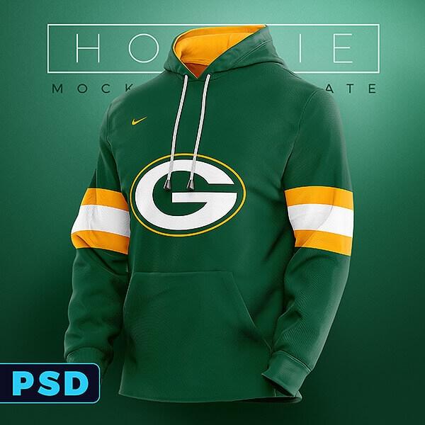 sports hoodie mockup template