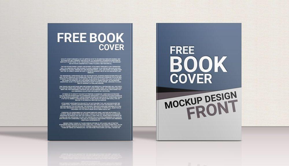 standing hardcover book front back mockup mockupworld