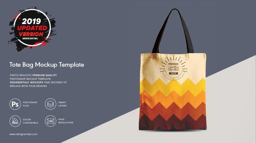 tote bag mock up designertale